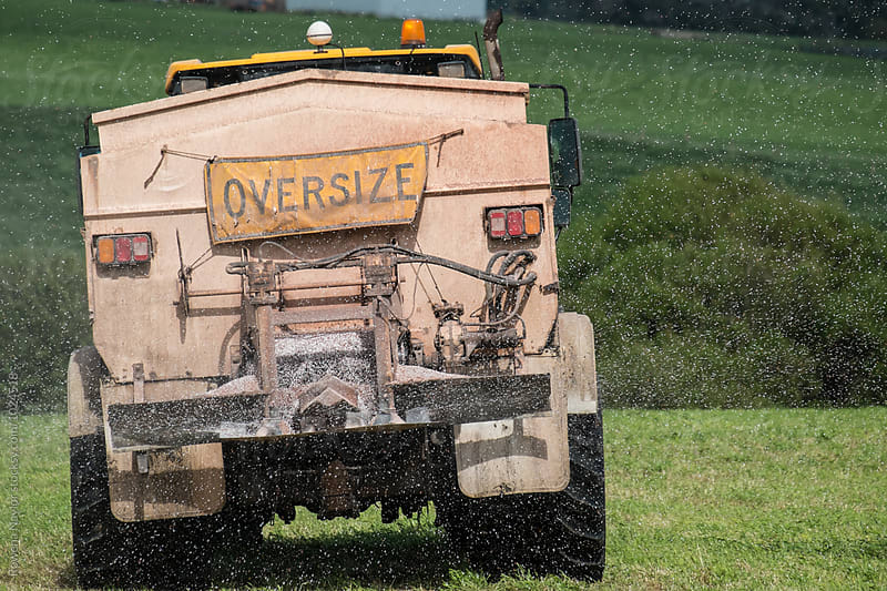 Commercial Fertilzer Truck in Operation by Rowena Naylor for Stocksy United