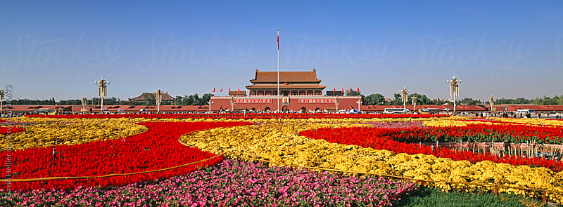 Gate of Heavenly Peace (Tiananmen), Tiananmen Square, Beijing, China, Asia by Gavin Hellier for Stocksy United