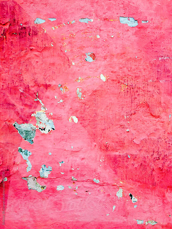 Red weathered background of a wall. by Shikhar Bhattarai for Stocksy United