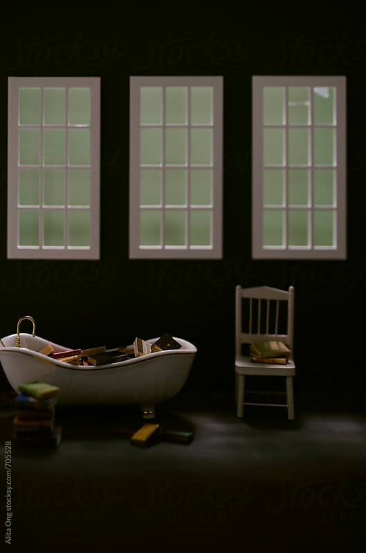 Bathroom under moonlight by Alita Ong for Stocksy United