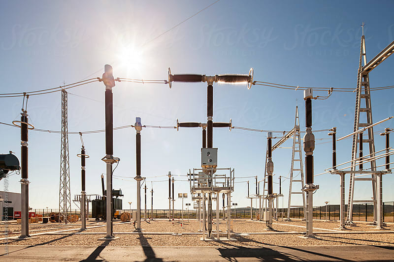 Electric Substation by Luis Cerdeira for Stocksy United