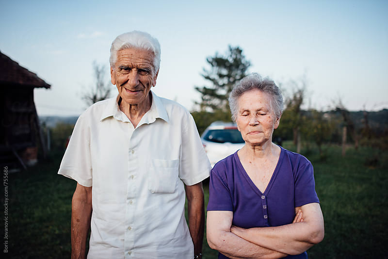 Senior couple portrait  by Boris Jovanovic for Stocksy United