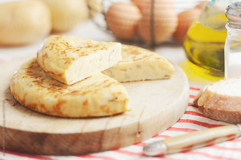 Spanish omelette still life. by mee productions for Stocksy United