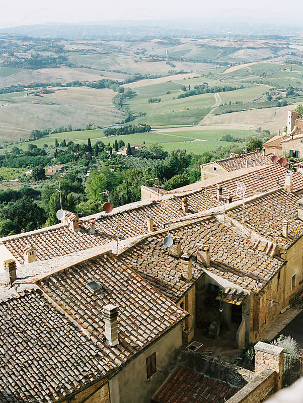 View over the rooftops of Montepulciano by Kirstin Mckee for Stocksy United