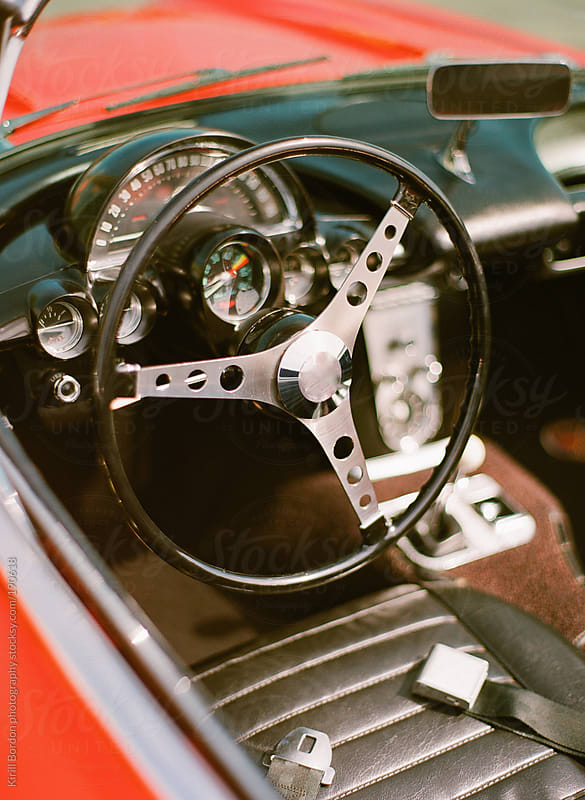 vintage sports car by Kirill Bordon photography for Stocksy United