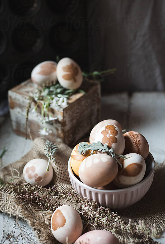 Easter eggs with floral motives by Natasa Kukic for Stocksy United
