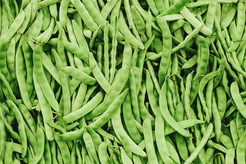 Fresh green beans ( string bean ) in the market by Borislav Zhuykov for Stocksy United