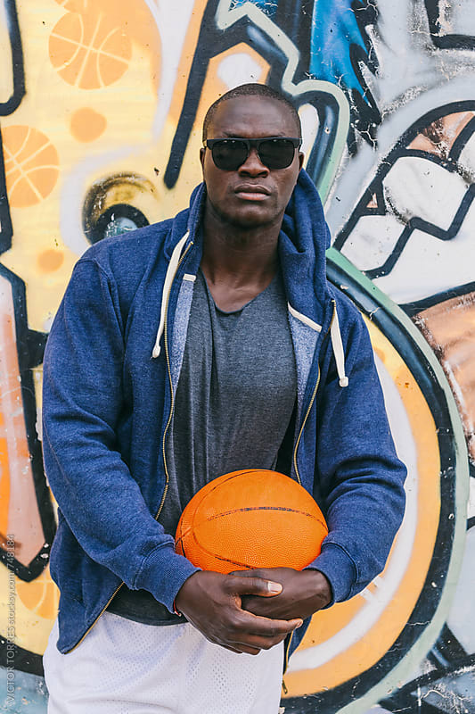 Portrait of an Black Man with Casual Sport Outfit by VICTOR TORRES for Stocksy United