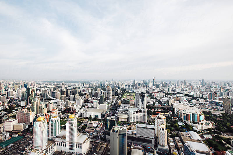 Aerial View of Bangkok by Lumina for Stocksy United