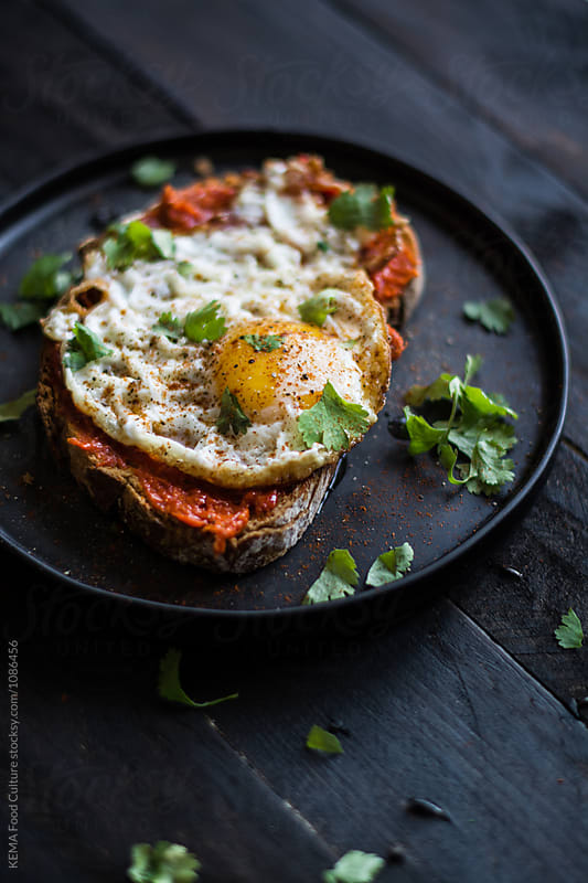 Fried egg on a toast by KEMA Food Culture for Stocksy United