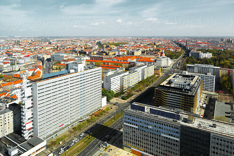 Aerial View of Berlin by VICTOR TORRES for Stocksy United