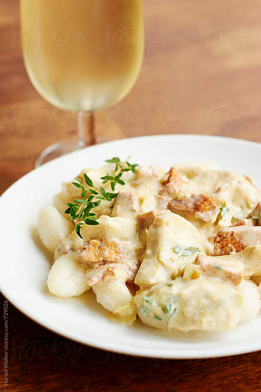 Artichoke Gnocchi with Tofu Pieces by Harald Walker for Stocksy United