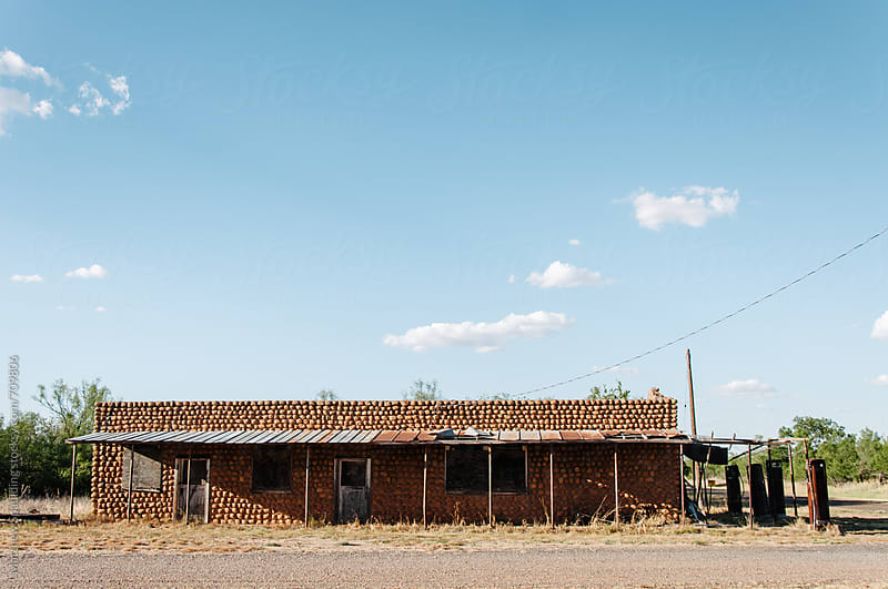 Old gas station in ghost town by Matthew Spaulding for Stocksy United