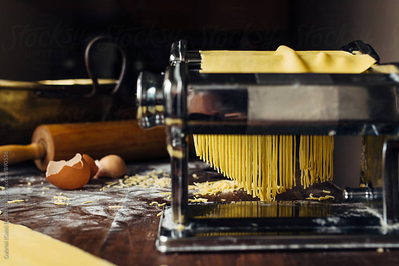 Fresh pasta making by Gabriel (Gabi) Bucataru for Stocksy United