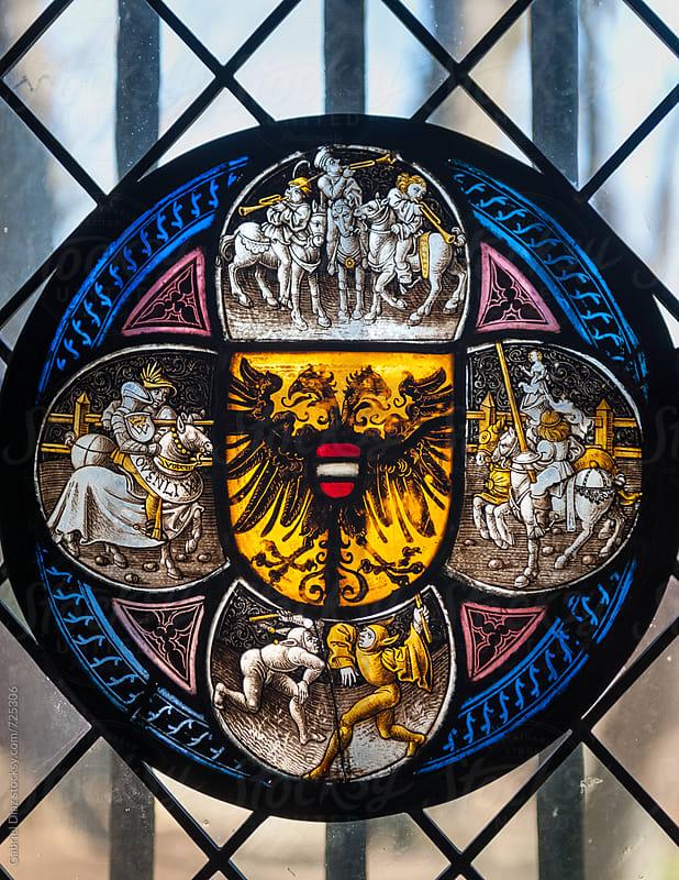 Stained Glass Church Window by Gabriel Diaz for Stocksy United