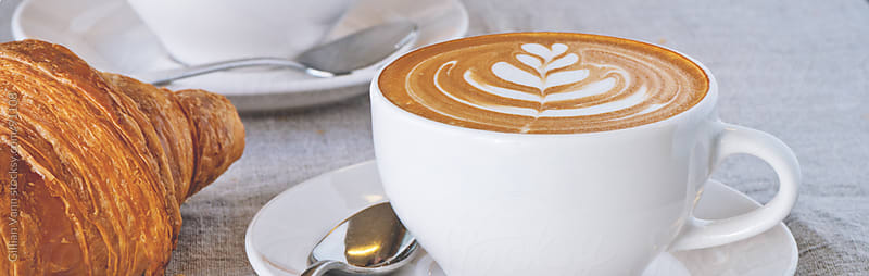coffee, flat white by Gillian Vann for Stocksy United