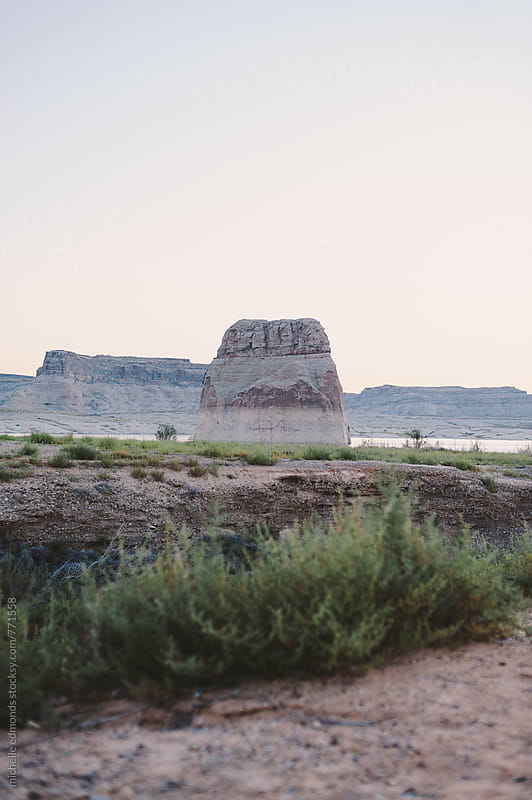 Camping at Lone Rock Beach, Lake Powell by michelle edmonds for Stocksy United