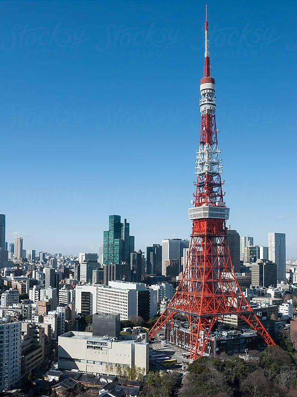 Tokyo Tower by Koen Van Damme for Stocksy United