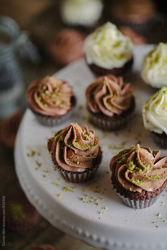 Chocolate cupcake by Davide Illini for Stocksy United
