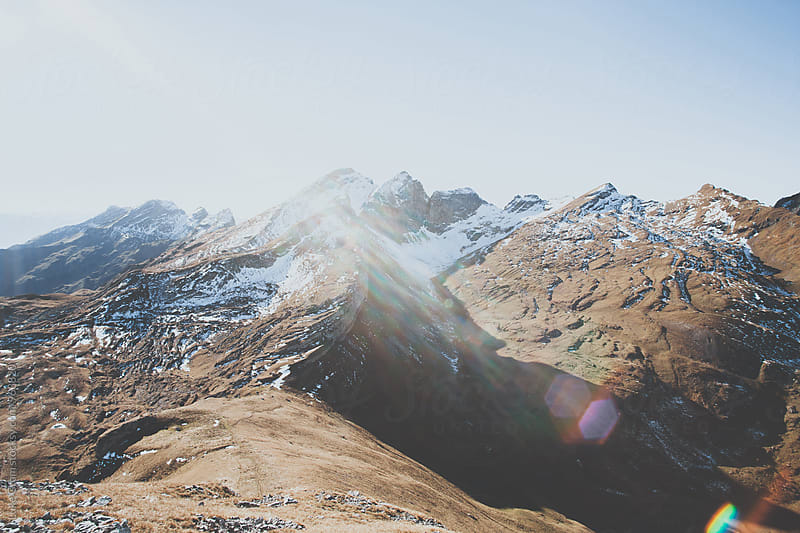 Hiking in the Swiss Alps by Luke Gram for Stocksy United