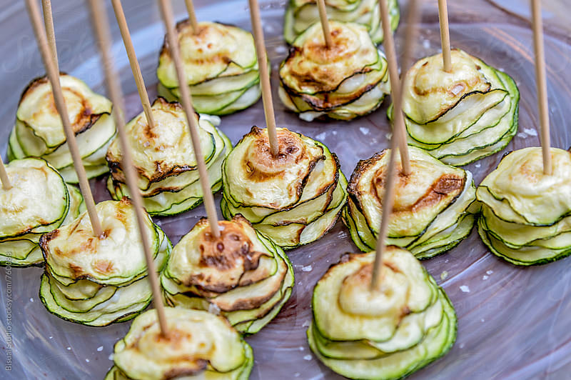 Zucchini with melted cheese by Bisual Studio for Stocksy United