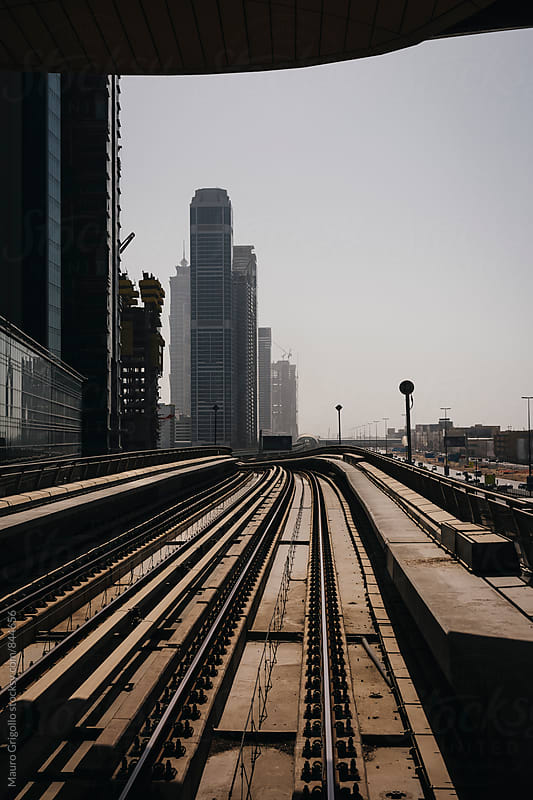 Train station in Dubai. United Arab Emirates. by Mauro Grigollo for Stocksy United