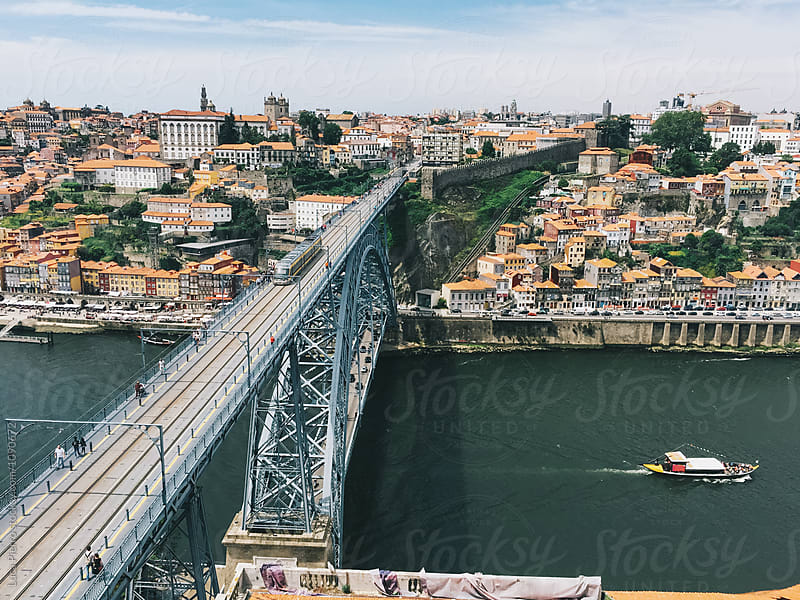 Luiz I bridge in Porto, Portugal  by Luca Pierro for Stocksy United