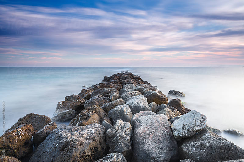 Rock pier by Marilar Irastorza for Stocksy United
