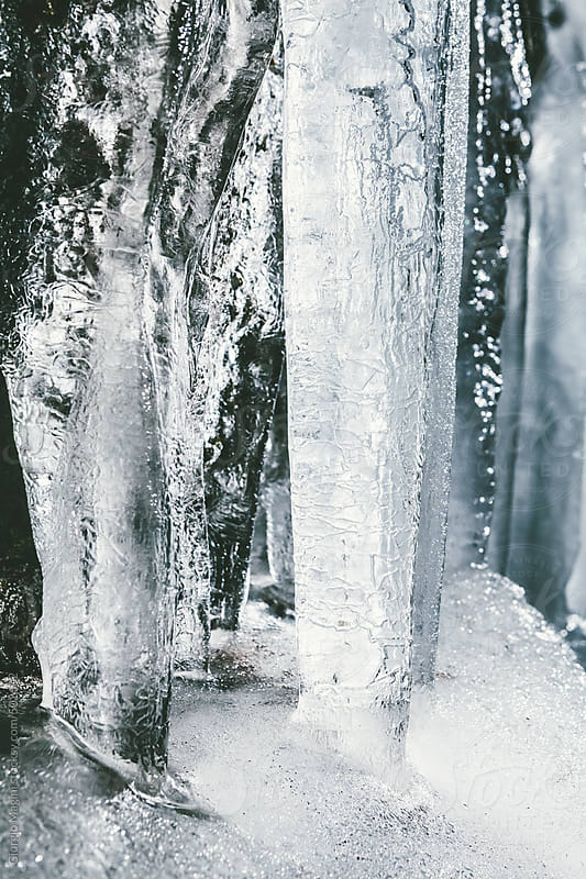 Frozen Icicles Closeup, Winter Season by Giorgio Magini for Stocksy United