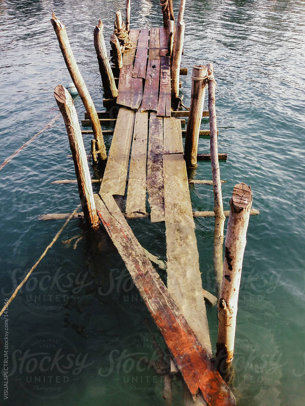 Abandonded Pier by VISUALSPECTRUM for Stocksy United