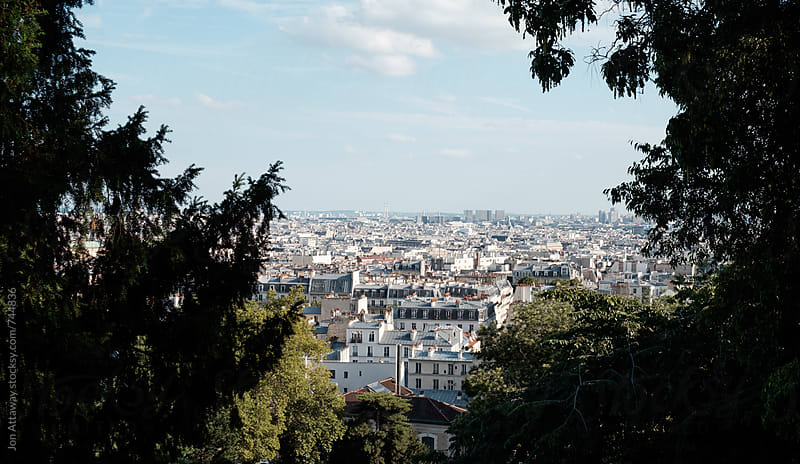 Paris skyline from Montmartre by Jon Attaway for Stocksy United