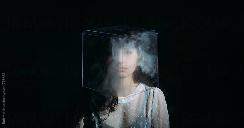 BOX OF SMOKE HEAD by Rob Martinez for Stocksy United