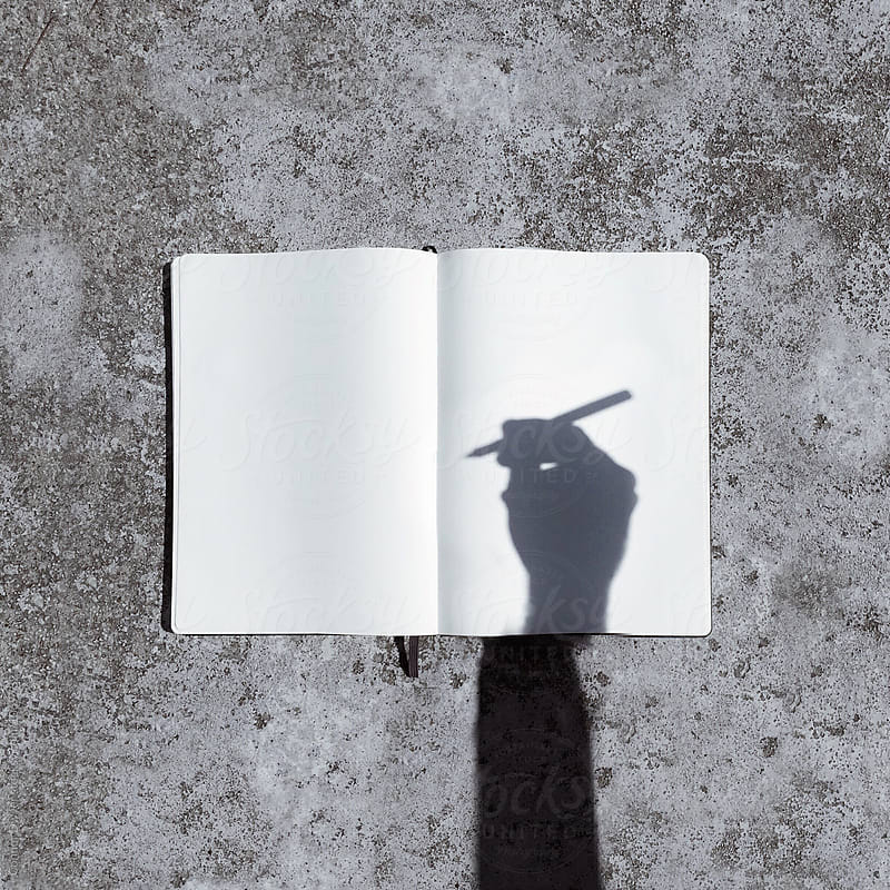 sketchbook shadow by Connor Dwyer for Stocksy United