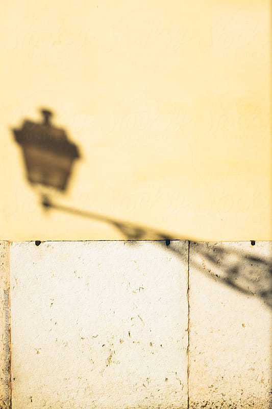 Street Lamp Shadow by Good Vibrations Images for Stocksy United