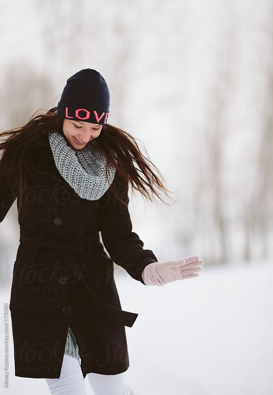 running girl by Alexey Kuzma for Stocksy United