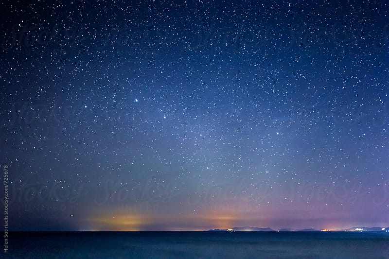 The Big Dipper over the Sea by Helen Sotiriadis for Stocksy United
