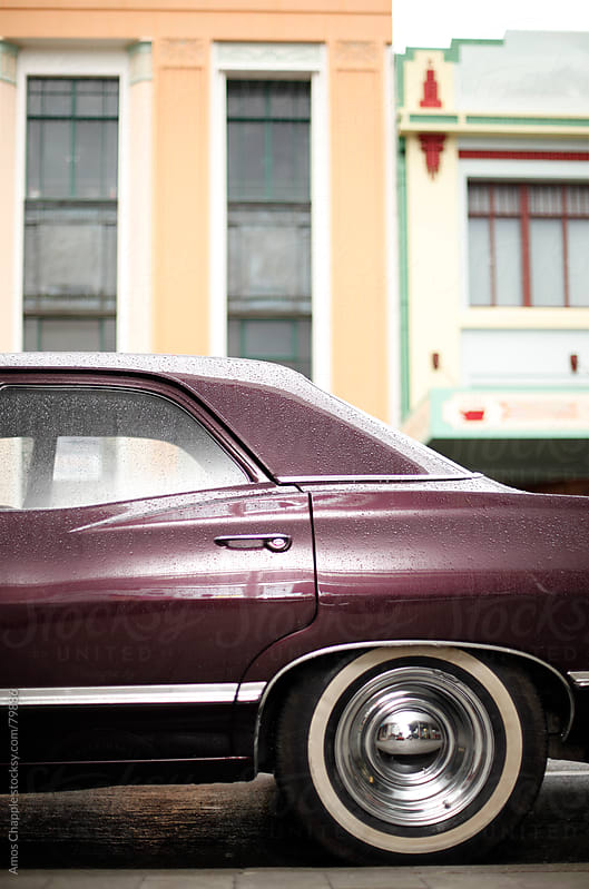 A vintage car in Napier by Amos Chapple for Stocksy United