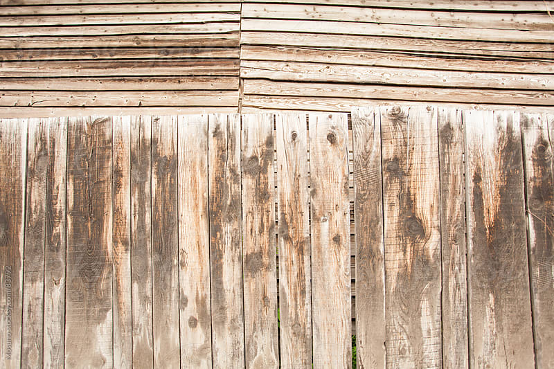 Old wooden wall as background.  by Mosuno for Stocksy United