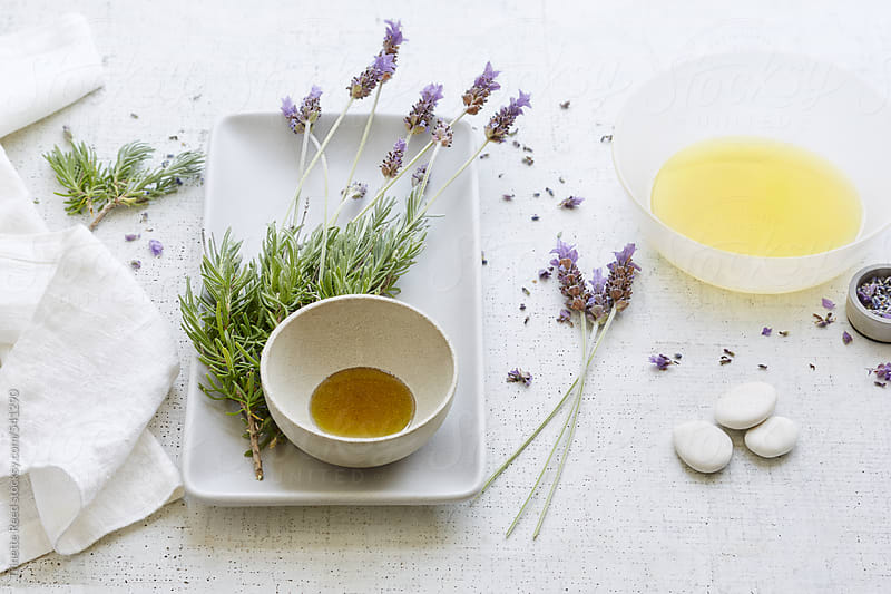 Fresh lavender spa treatment  by Trinette Reed for Stocksy United