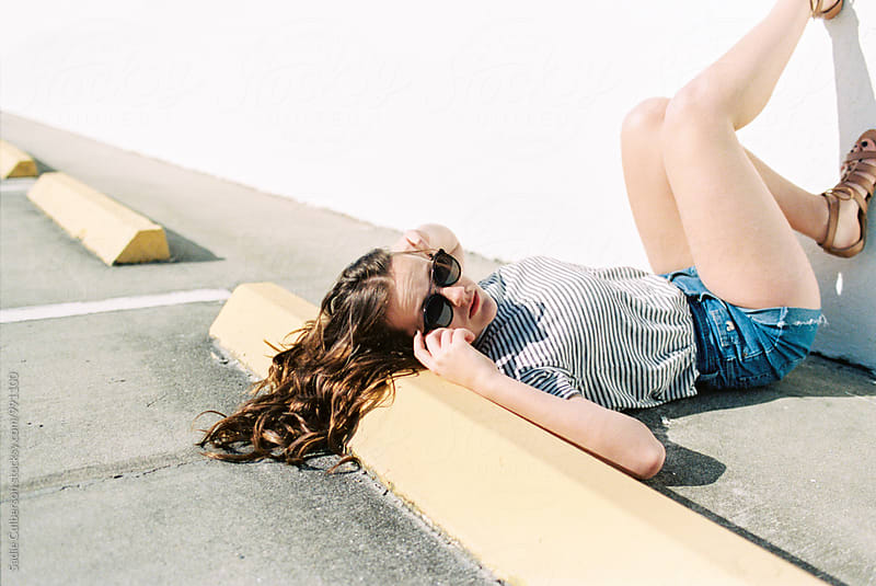Girl on parking deck by Sadie Culberson for Stocksy United