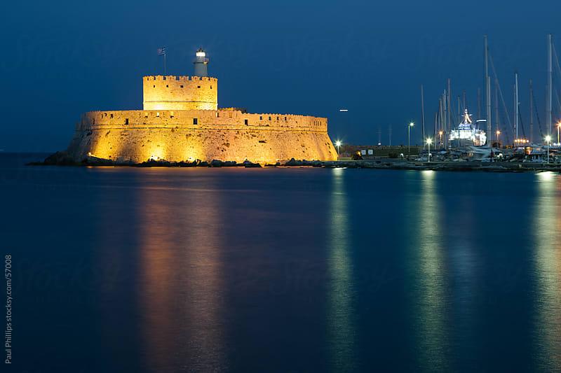 Mandraki fort, Rhodes, Greece by Paul Phillips for Stocksy United