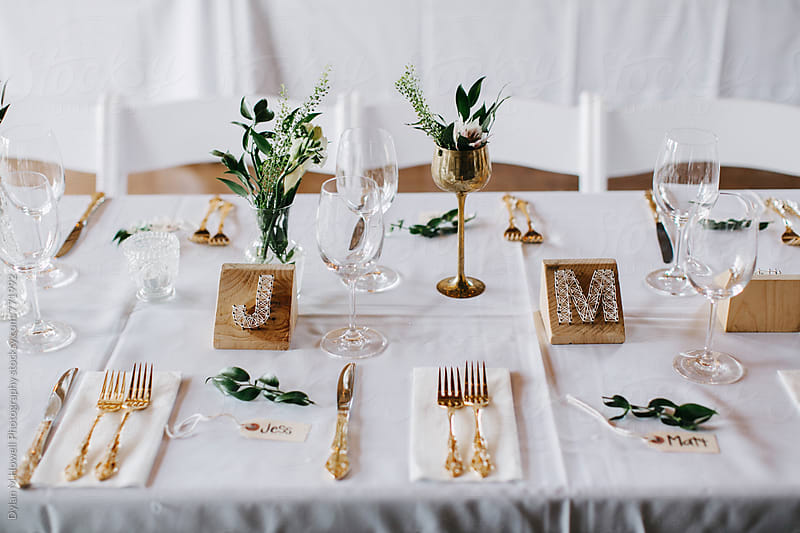 Wedding Table Setting by Dylan M Howell Photography for Stocksy United