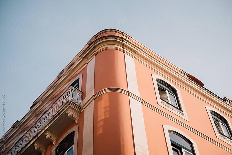 Pastel Orange Building by Katarina Radovic for Stocksy United