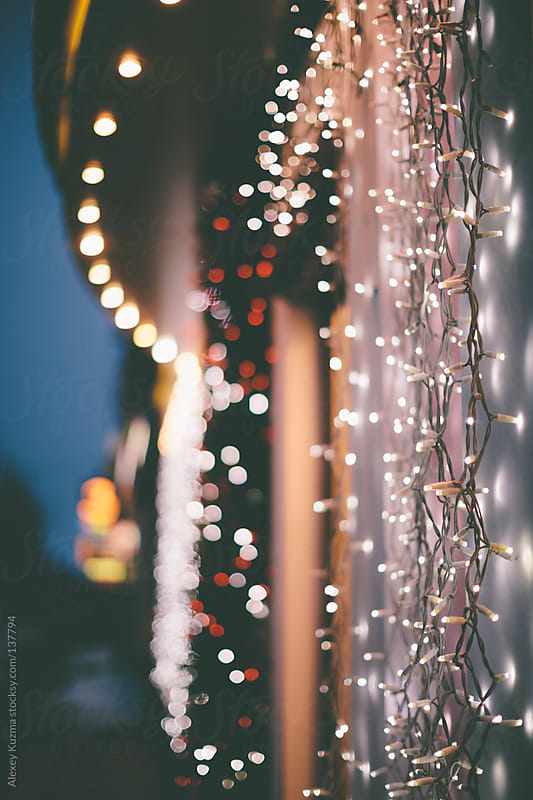 Christmas lights by Alexey Kuzma for Stocksy United