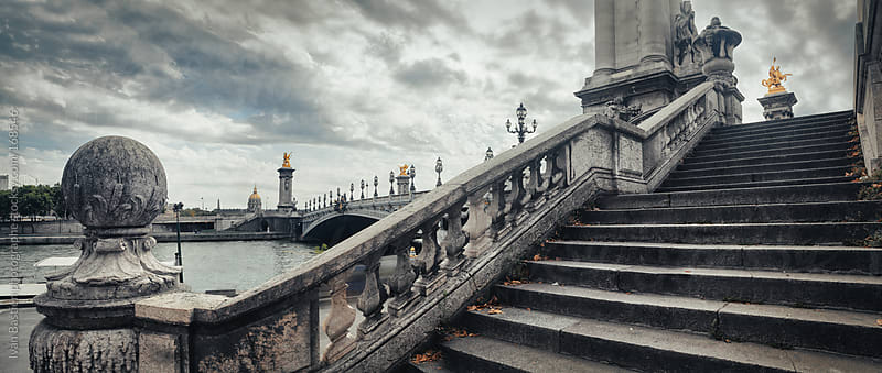 Panoramic shot of Alexandre III bridge in Paris, France by Ivan Bastien for Stocksy United