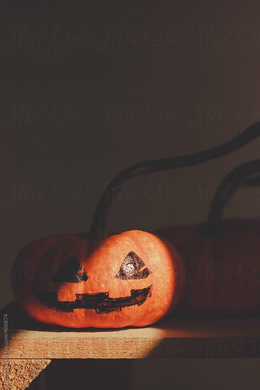Halloween pumpkin  by luis felix for Stocksy United