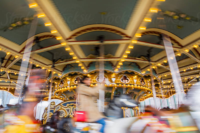 Carousel in motion by yuko hirao for Stocksy United