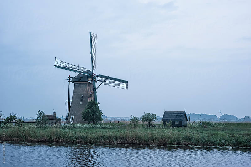 Windmill at Kinderdijk, Netherlands by GIC for Stocksy United