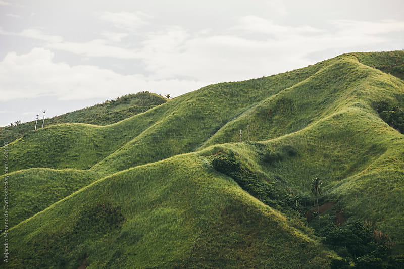 Green hills in Philippines by Alejandro Moreno de Carlos for Stocksy United