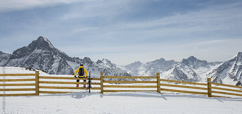 Skier admiring the view by RG&B Images for Stocksy United